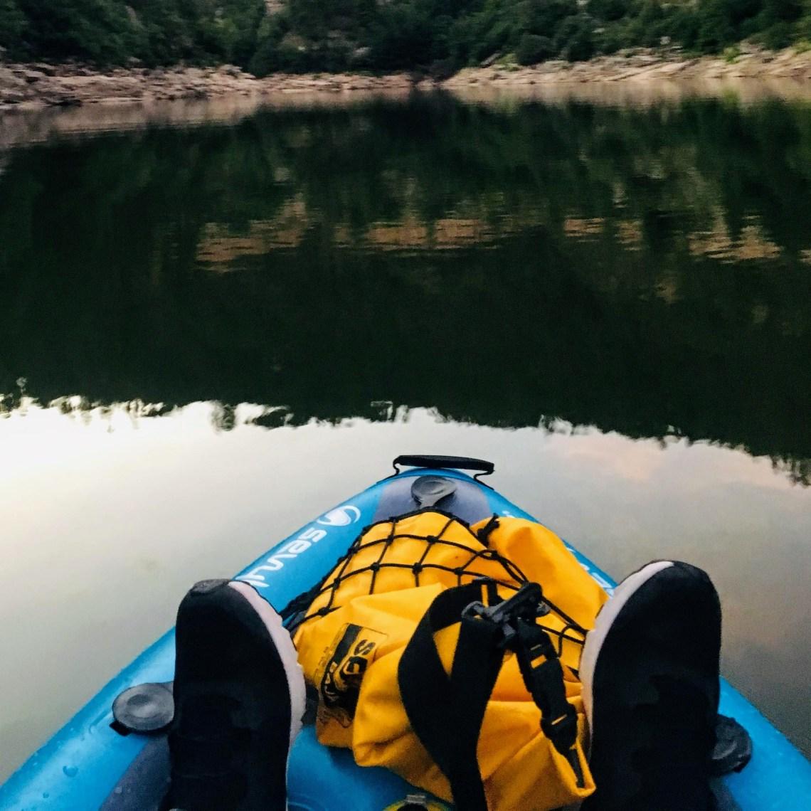Glassy waters of Blue Ridge Reservoir