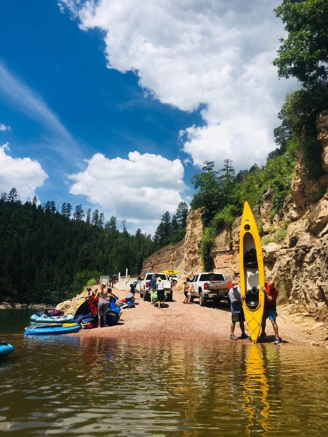 Blue Ridge Reservoir boat ramp and loading/unloading area