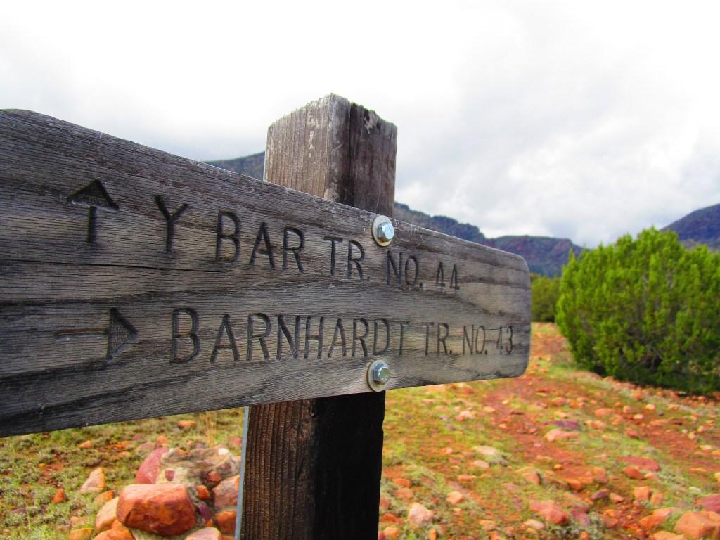 Sign at beginning of Barnhardt Trail No 43