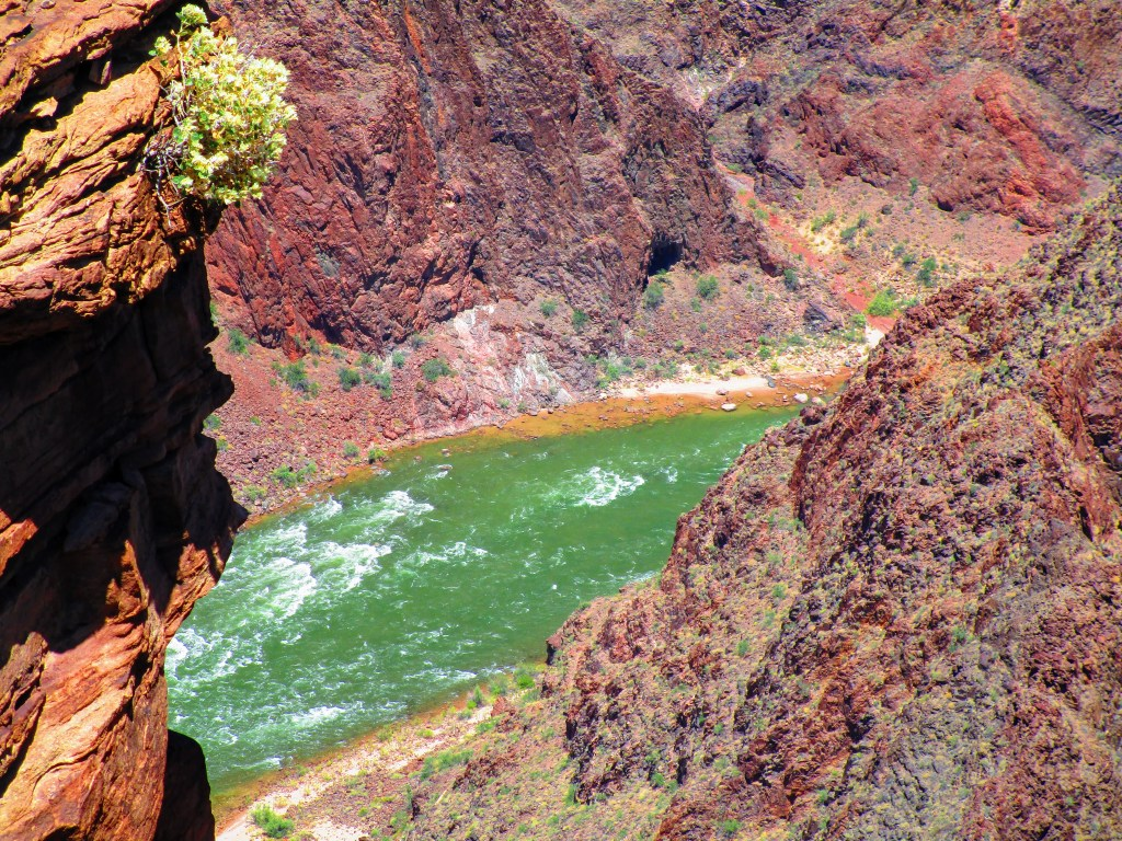 Colorado River viewed from Plateau Point in Grand Canyon