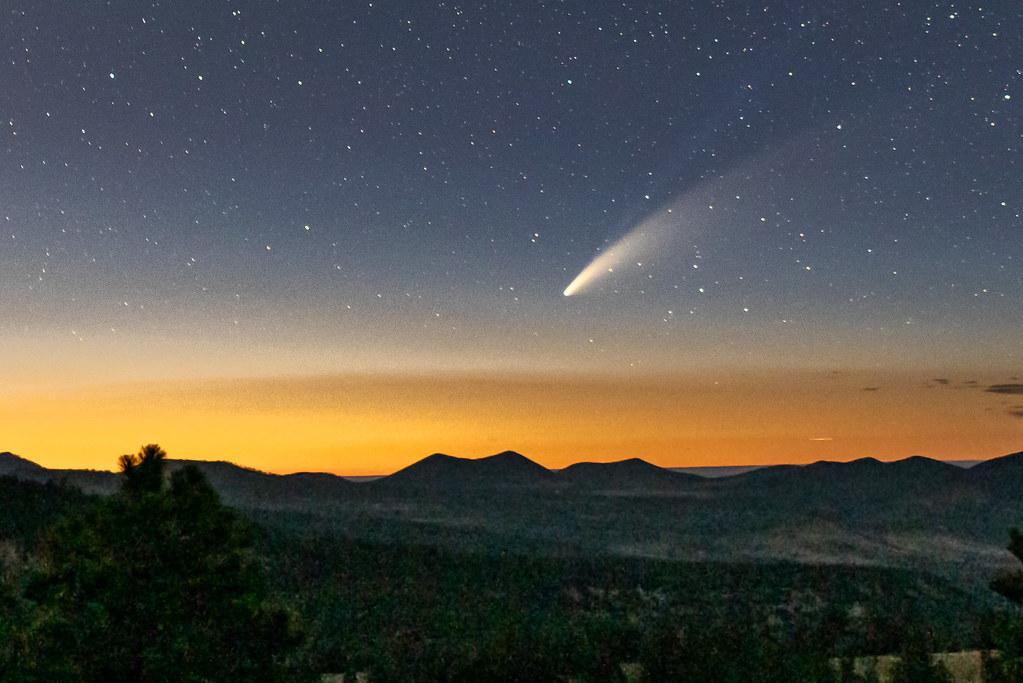 Comet Neowise over Northern Arizona sky