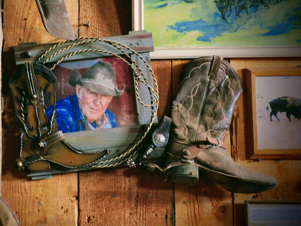 Framed picture of Rock Art Ranch owner Brantley Baird