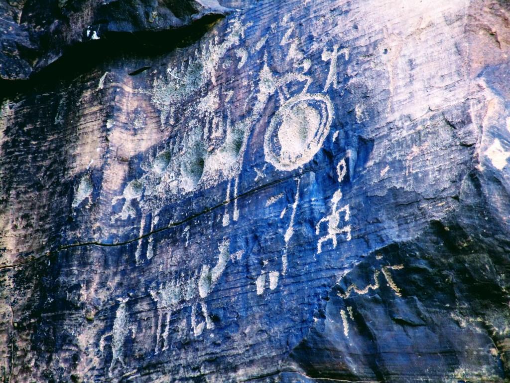Petroglyph panel at Rock Art Ranch