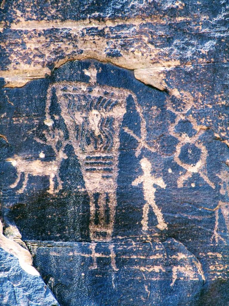 Hunter petroglyph at Rock Art Ranch