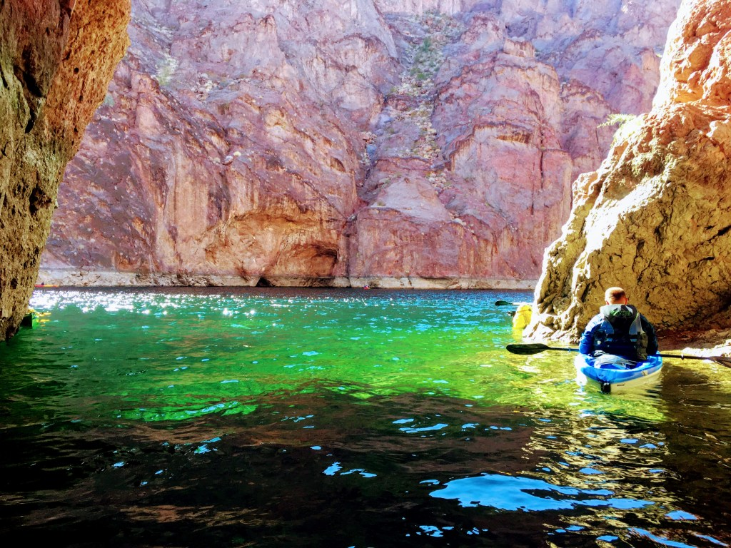 Kayaker in Emerald Cove