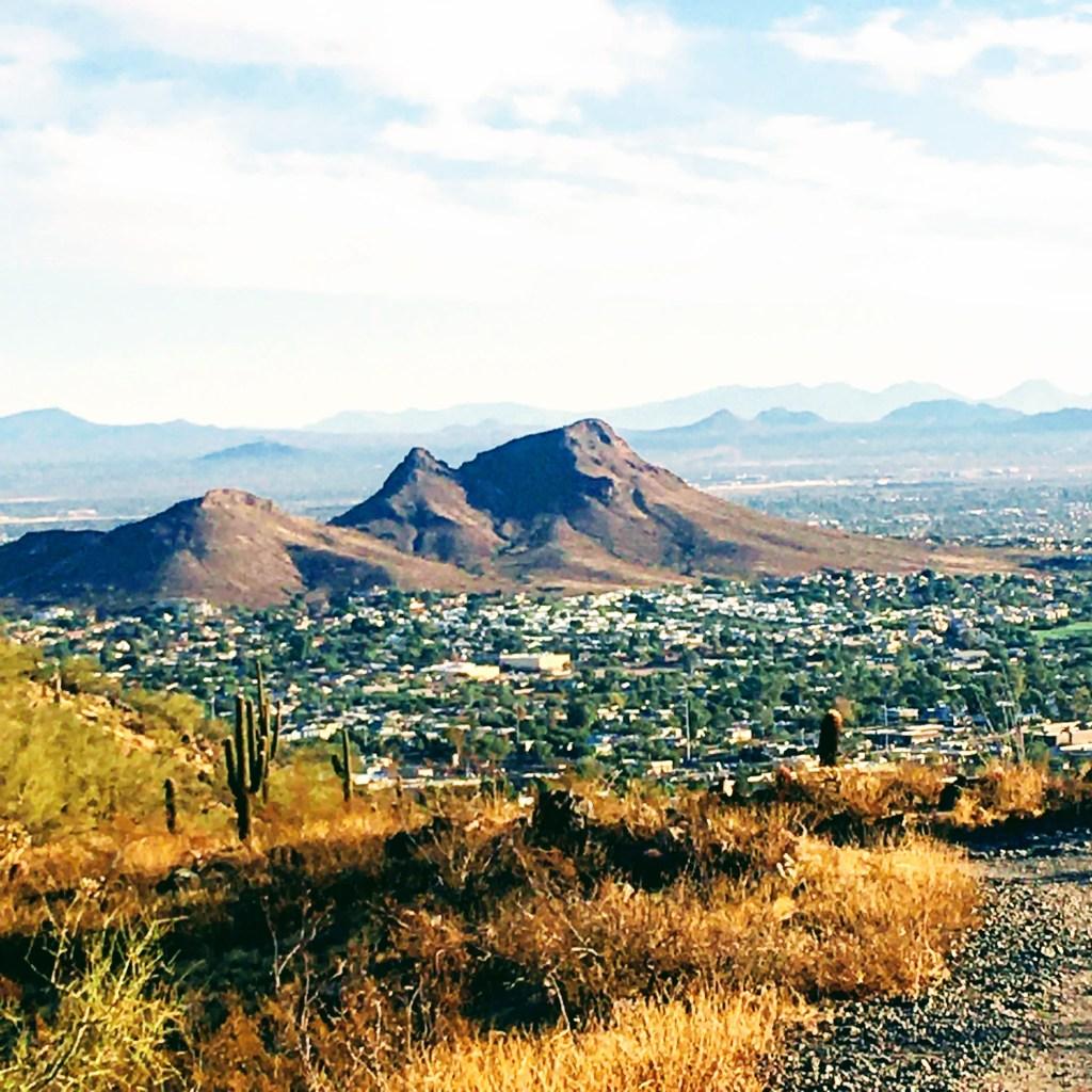 Mountain peaks dot the Phoenix skyline