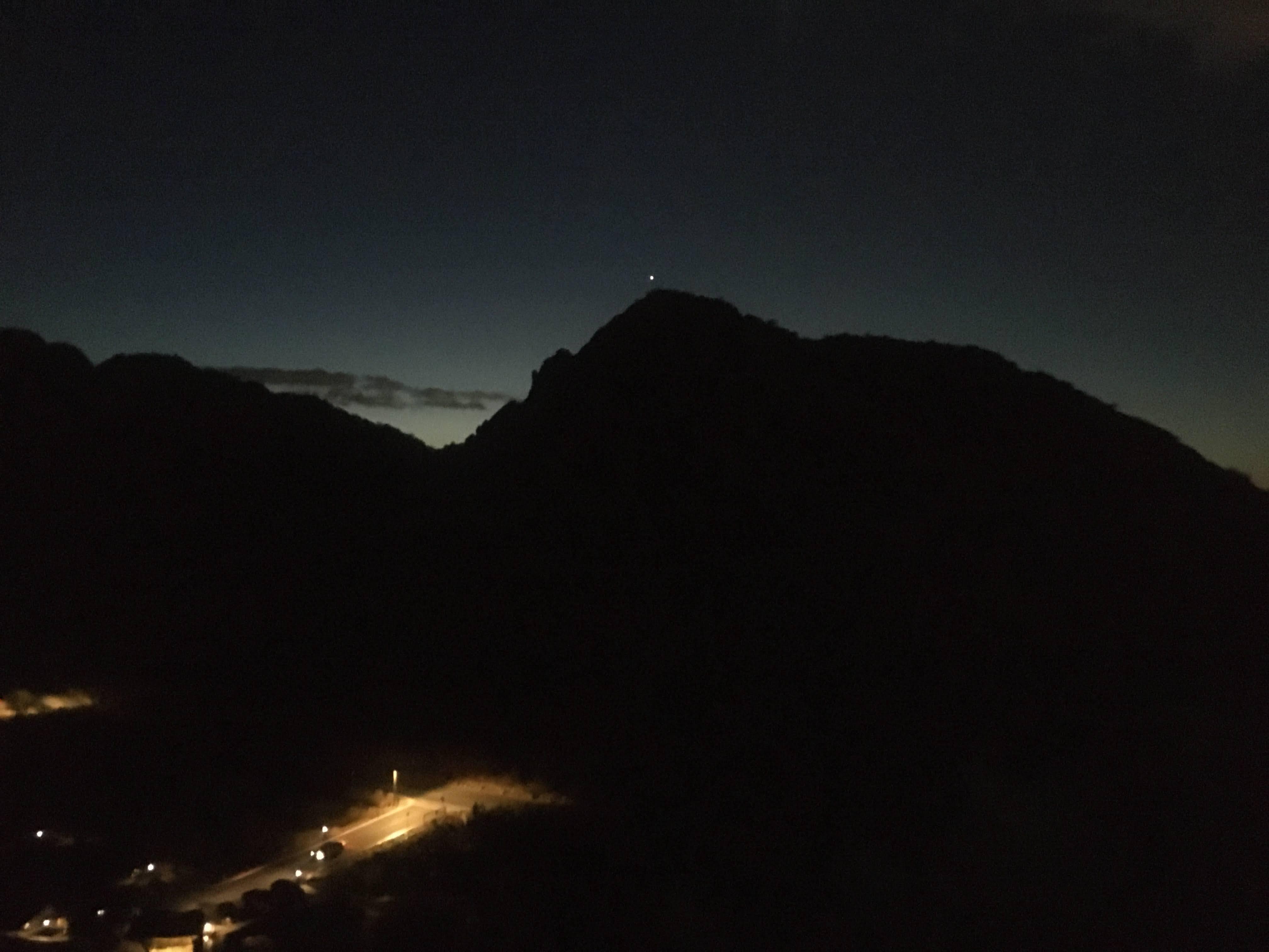 silhouette of mountain in Phoenix, AZ