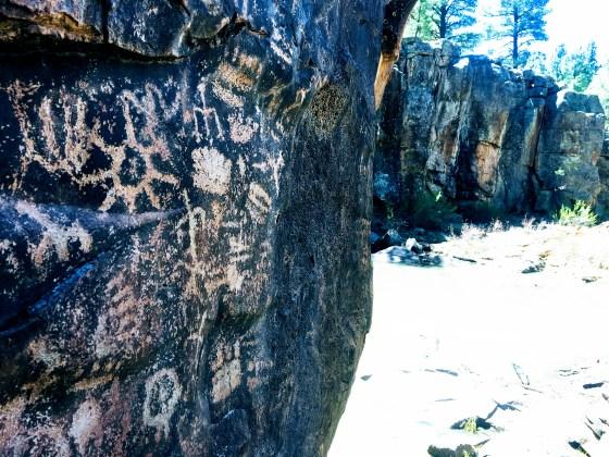 petroglyphs at Keyhole Sink