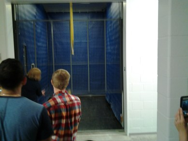 The freight elevator: What a ride!