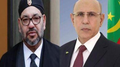 صورة العاهل المغربي يهاتف الرئيس غزواني