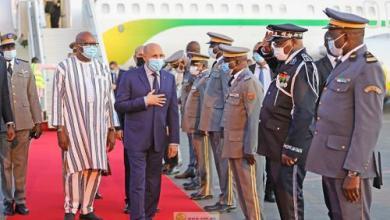 صورة الرئيس غزواني يصل واغادوغو