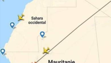 صورة تصحيحا لشائعة منع طائرة مصرية من عبور الأجواء الموريتانية