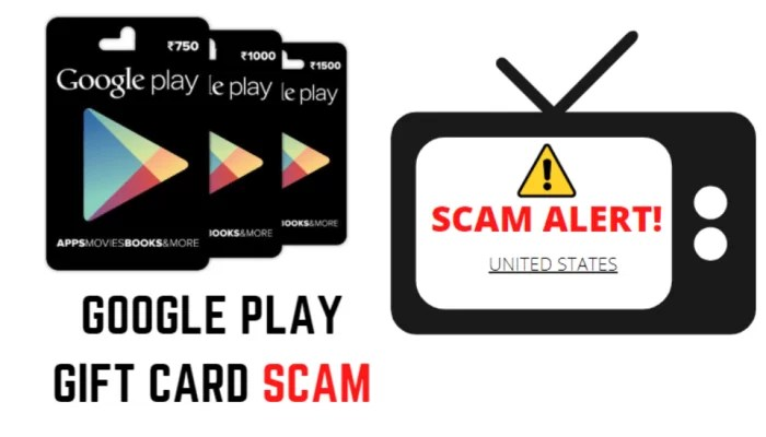 Google Play Gift Cards Scam
