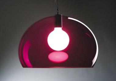 Luminaria tipo campana de acrílico