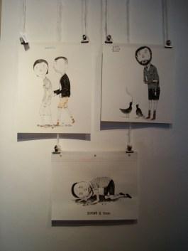 Obras de Kevin Simón Mancera en la muestra de Número A en SAPO