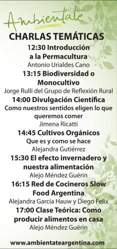 Charlas del festival de alimentación responsable en el Botánico. Imagen.