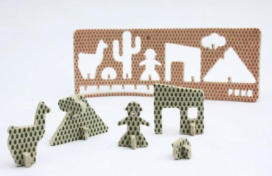 Juguetes planos en fieltro de lana, por Planar+AnaLisa+Kom. Imagen.
