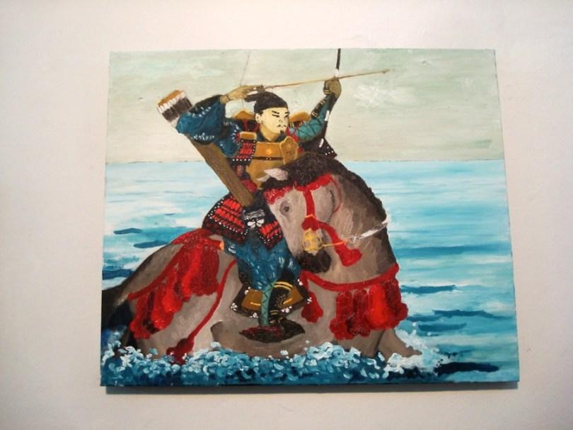Pintura en la muestra de Alejandro Musich en galería Mite