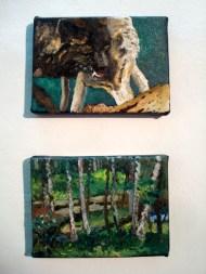 Dos pinturas en pequeño formato de la muestra