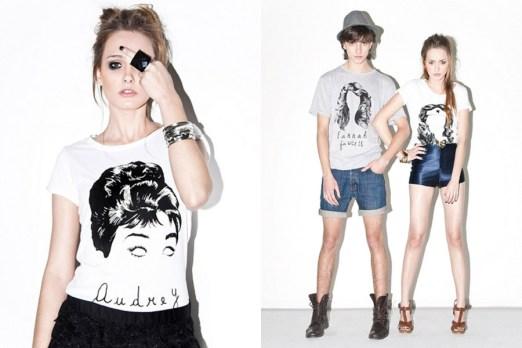 Remeras Audrey, Farrah y Wonderwoman, por Pino Gay