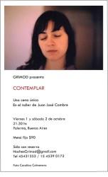 Noches Grimod - Contemplar - Flyer