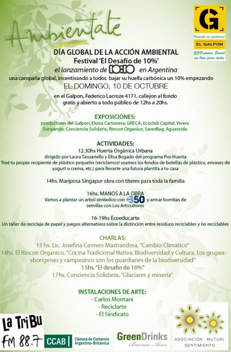 Flyer del festival El desafío del 10%. Imagen