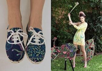 Zapatillas estampadas - Juana de Arco - Moda invierno 2011
