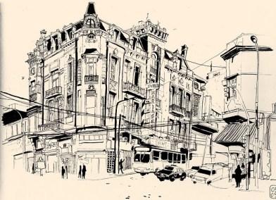 El caos de cables en la calle por Anne Sophie Girault