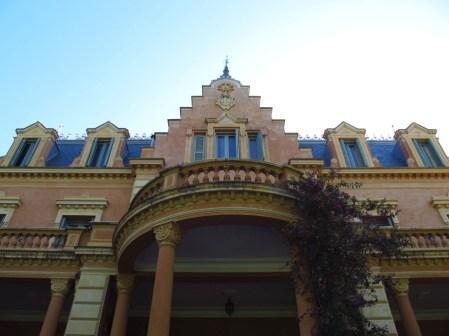 Fachada trasera de Villa Ocampo
