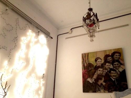Sala de espera de Querida Elena, teatro en La Boca. Foto