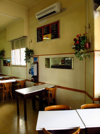 Interior del bar El motivo. Foto