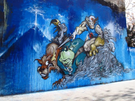 Graffiti de Thundercats en Villa Pueyrredón. Foto