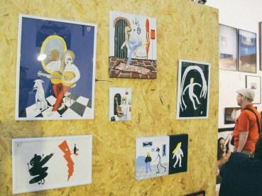 Pinturas de Kitty Faingold, de Costado Galería (Mendoza). Foto