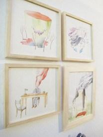 Ilustraciones de Omar Jury en Costado Galería (Mendoza). Foto