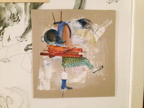 Obra de Mariela Nussembaum en la fiesta del Anuario de Ilustradores. Foto