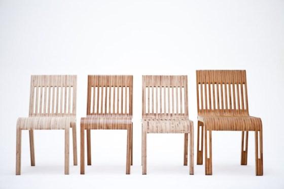 Conjunto de sillas del Proyecto Chear, por Tomás Diéguez y Martín Huberman. Foto