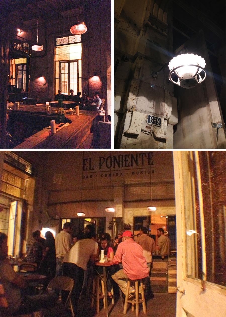 El Poniente, bar en el centro de Asunción. Fotos