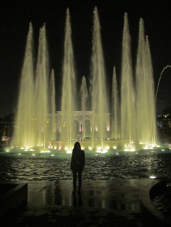 Circuito del agua en el Parque de la Reserva de Lima. Foto