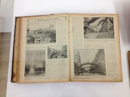 """""""El gran problema del tráfico"""" de Buenos Aires: Revista Caras y Caretas #779 (1913). Foto"""