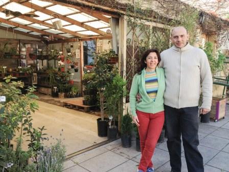 Sonia y Fernando, fundadores del vivero orgánico. Foto