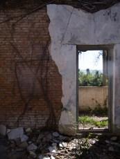 Una puerta en la zona del 'Barrio Chino'. Foto