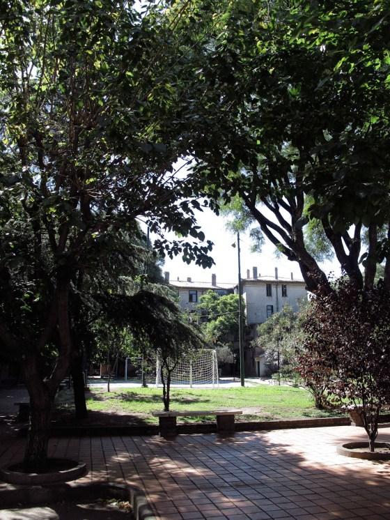 Parque interior del barrio Los Andes. Foto