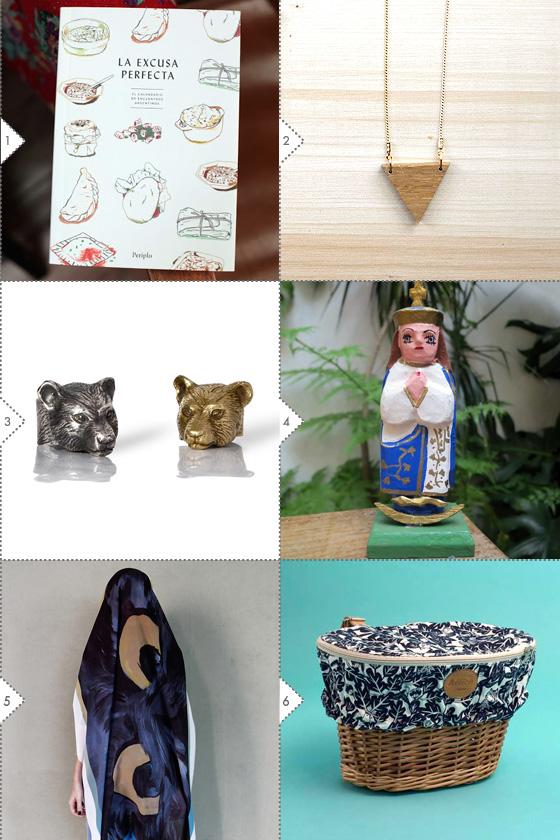 Ideas de regalos inspiradores 2013/2014. Objetos de Periplo Ediciones, Emedemarta, Soledad Kussrow, Guaraní Porā, CAMION y Hélice Bike Style. Foto