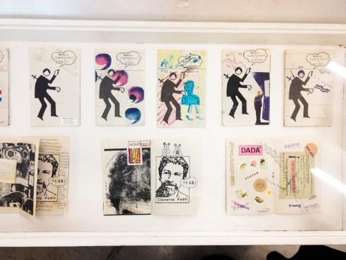 Serie de fanzines y postales de Arte Correo de Clemente Padín. Foto