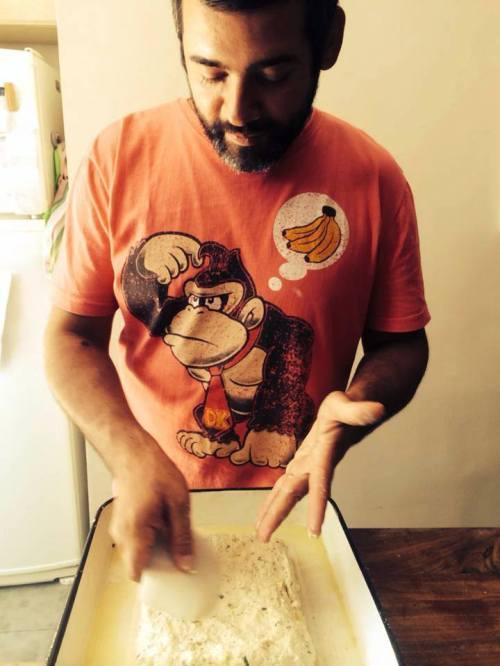 Diego Veras, panadero y carpintero. Foto