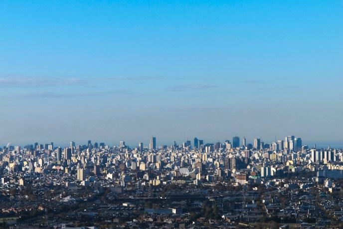 Vista aérea de Buenos Aires desde la Torre espacial del Parque de la Ciudad. Foto