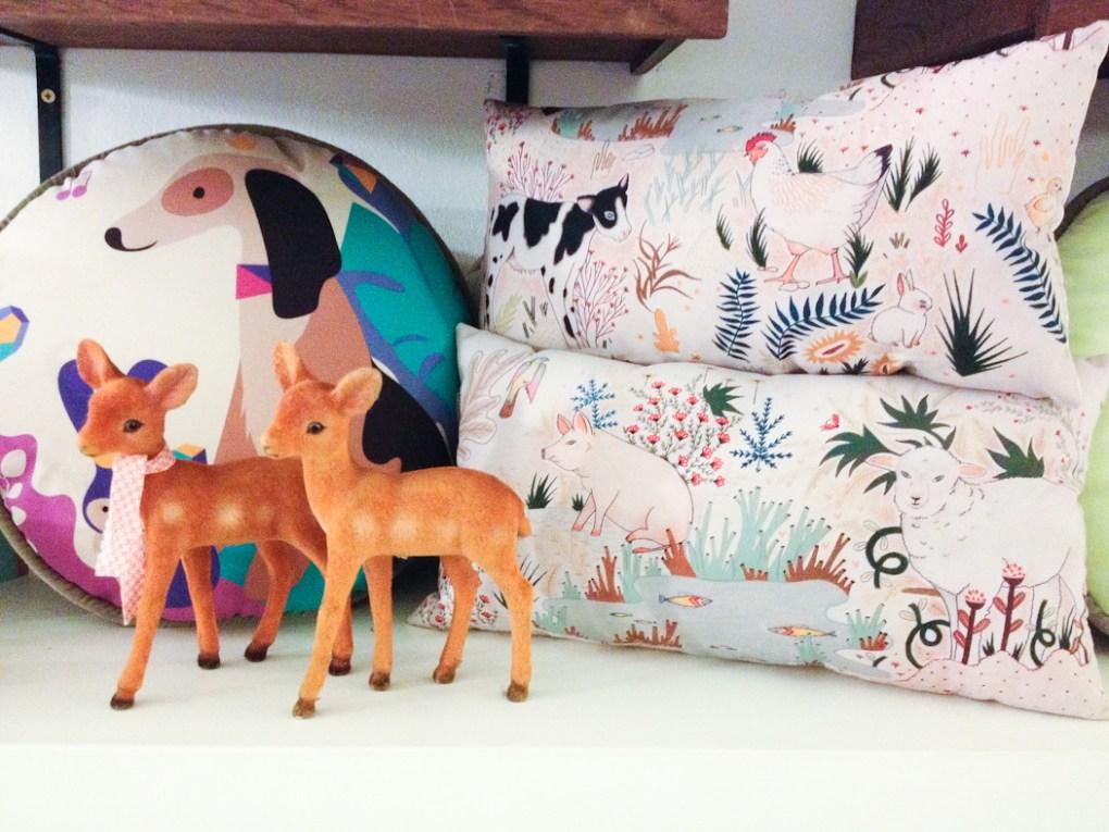 Almohadones de Fauna Querida en Tienda Tita. Foto