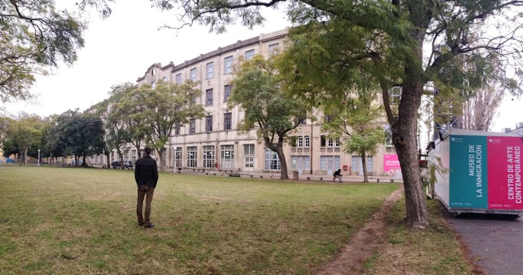 Vista panorámica del antiguo Hotel de los inmigrantes. Foto