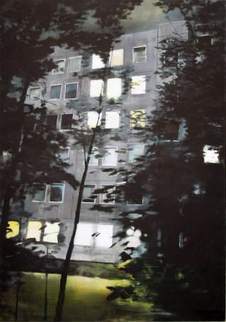 Am Jägerpark 57 II / Öl auf Leinwand / 120 x 90 cm / 2009