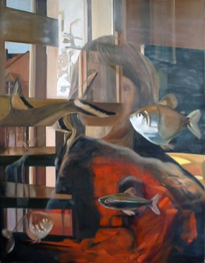Aquarium III / Öl auf Leinwand / 120 x 100 cm / 2006